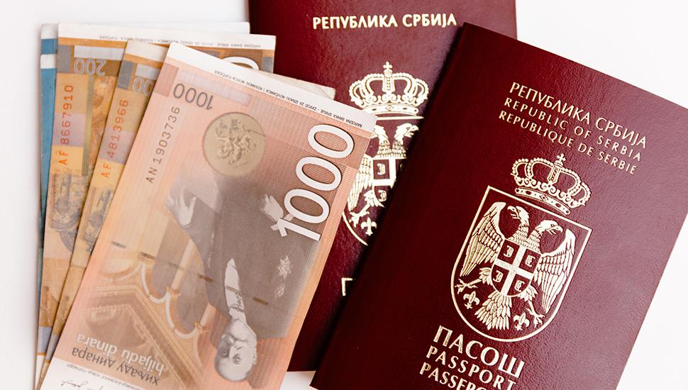 Srpski pasoš i dinari