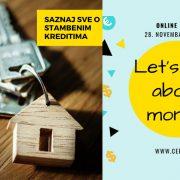 REŠITE SVE NEDOUMICE O KREDITIMA I ŠTEDNJI Besplatna online finansijska edukacija 28. novembra u organizaciji CEFIN i Erste banke