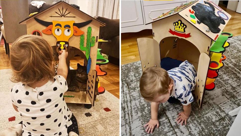 Edukativne drvene kućice za najmlađe