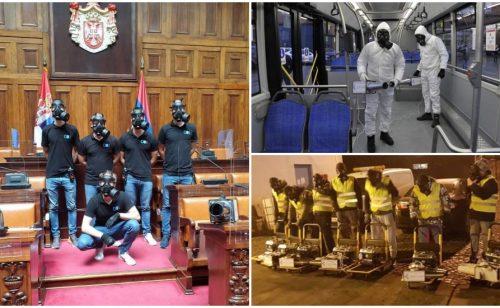 Mladići ostali u Srbiji i ozonom se bore protiv korona virusa